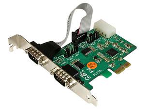 StarTech Tarjeta PCI Express de 2 Puertos Serial RS232