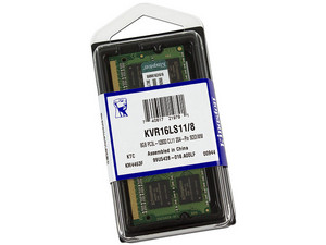 Memoria Kingston SODIMM DDR3L PC3L-12800 (1600 MHz) CL11, 8 GB.