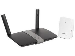 Kit Inalámbrico Linksys de Ruteador Smart Wi-Fi EA6350 y Extensor de rango RE6350 de Doble Banda AC1200, 2.4 GHz y 5 GHz.