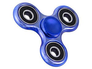 Fidget Spinner Cromado. Color Azul.