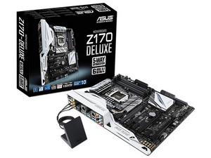 T. Madre ASUS  Z170-DELUXE, Chipset Intel Z170, Soporta: Core i7 / i5 de 6ta Gen., Socket 1151, Memoria: DDR4 3733(O.C.)/ 2400(O.C.)/2133 MHz, 64GB Max, Integrado: Audio HD, Red, USB 3.1 y SATA 3.0, ATX, Ptos: 3xPCIEx16, 4xPCIex1