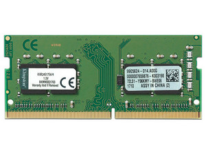 Memoria SODIMM  Kingston DDR4 PC4-19200 (2400MHz) CL17, 4 GB.