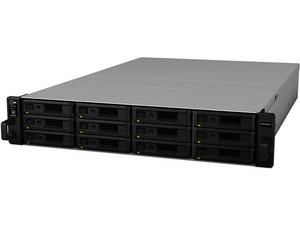 """NAS SYNOLOGY RS2416RP+ con 12 Bahías para Disco de 3.5"""", 4 Puertos Gigabit, 2 GB DDR3, hasta 120 TB (no Incluye discos duros)."""