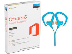 Microsoft Office 365 Personal, Incluye Audífonos deportivos Vorago.