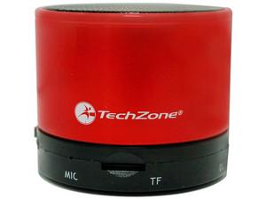 Bocina portátil recargable TechZone, Bluetooth. Color Rojo.