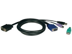 Cable para Switch KVM Tripp Lite de 3m, PS/2, USB.