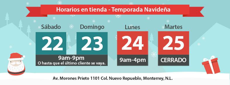 Banner Horarios Navidad