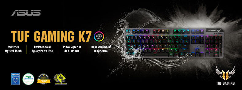 Banner ASUS Teclado TUF Gaming K7 RGB