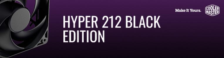 Disipador de Procesador Cooler Master Hyper 212 Black Edition, Intel, AMD