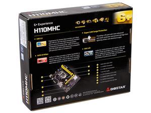 T  Madre Biostar H110MHC:ChipSet Intel H110,Soporta: Intel Core i7 / i5 /  i3 / Pentium / Celeron de Socket 1151,Memoria: DDR4 2133 MHz, 32GB