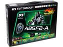T. Madre ECS A85F2-A, Chipset AMD A85X, Soporta: AMD A10/A8/A6/A4/ Athlon X4 de Socket FM2, Memoria: DDR3 2133(O.C.)/1866/1600/1333 MHz, 64GB Max, USB 3.0 y SATA 3.0, Integrado: Audio HD, Red, ATX, Ptos: 2xPCIEX16, 1xPCIEX1