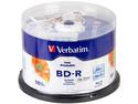 Paquete de 50 BD-R Verbatim Imprimibles hasta el centro, 25 GB, 6x.