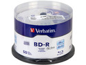 Paquete de 50 BD-R Verbatim, 25 GB, 6x.