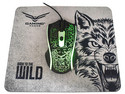 Kit de mouse óptico Gamer y mouse pad Naceb NA-632, hasta 1200dpi.