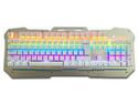Teclado Gamer BRobotix Metálico 237107, USB. Color Plata.