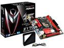 T. Madre Asrock GAMING-ITX/4, Chipset Intel Z170, Soporta: Core i7 / i5  de 6ta Gen. Socket 1151, Memoria:  DDR4 4000(O.C.)/ 3200(O.C.)/2133 MHz, 32GB Max, Integrado: Audio HD, Red, USB 3.1 y SATA 3.0, Mini-ITX, Ptos: 1xPCIE 3.0 x16.
