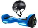 Hoverboard Eléctrico Hover Rocket, Ruedas con iluminación LED, Color Azul.  Incluye Casco Ajustable Hover H1-DBKH con Visera Magnética Desmontable.