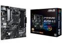T. Madre ASUS PRIME A520M-A II/CSM, Chipset AMD AM4, Soporta: Procesadores Ryzen Series 5000/4000G/3000, Memoria: 4 x DIMM DDR4, 128GB Max, Integrado: Audio HD, Red, USB 3.2, SATA 3.0 y M.2, Micro-ATX, Ptos: 1xPCIEx16, 2xPCIEx1.