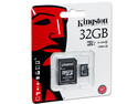 Memoria Kingston microSDHC UHS-1 de 32 GB, clase 10, incluye adaptador SD