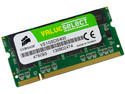 Memoria SODIMM Corsair Value Select DDR1 PC-3200 (400 MHz) CL3, 1 GB.