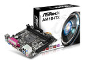 T. Madre ASRock AM1B-ITX, Soporta: Athlon / Sempron de Socket AM1, Memoria: DDR3 1600/1333MHz, Max. 32GB, Integrado: Audio HD, Red, Mini-ITX, Ptos: 1xPCIEX16