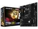 T. Madre GIGABYTE GA-Z270M-D3H, ChipSet Intel Z270,  Soporta: Intel Core i7 / i5 / i3 de 6ta y 7ma Gen.., de Socket 1151, Memoria: DDR4 3866(O.C.)/3466(O.C.)/2133 MHz, 64GB Max, Integrado: Audio HD, Red,  Micro-ATX, Ptos: 2xPCIEx16, 1xPCIE.